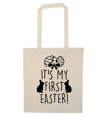 It's my first Easter natural tote bag