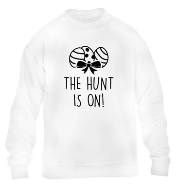 The hunt is on children's white sweater 12-13 Years