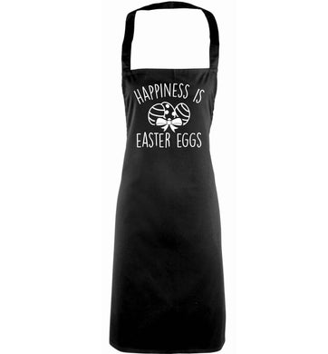 Happiness is Easter eggs adults black apron
