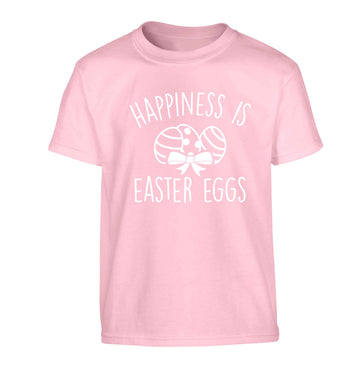 Happiness is Easter eggs Children's light pink Tshirt 12-13 Years