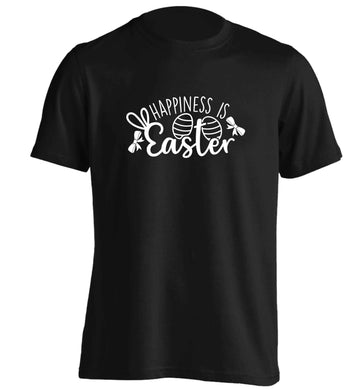 Happiness is easter adults unisex black Tshirt 2XL