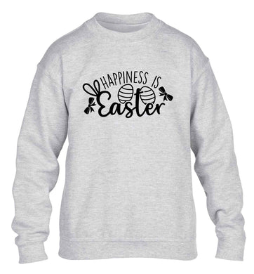 Happiness is easter children's grey sweater 12-13 Years