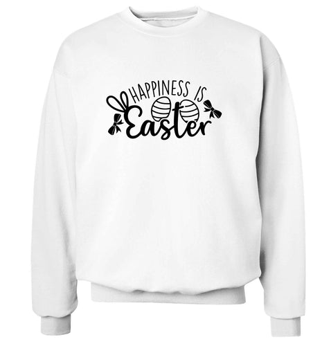 Happiness is easter adult's unisex white sweater 2XL