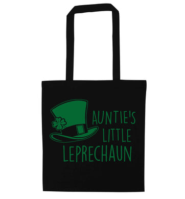 Auntie's little leprechaun black tote bag