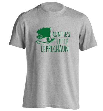 Auntie's little leprechaun adults unisex grey Tshirt 2XL