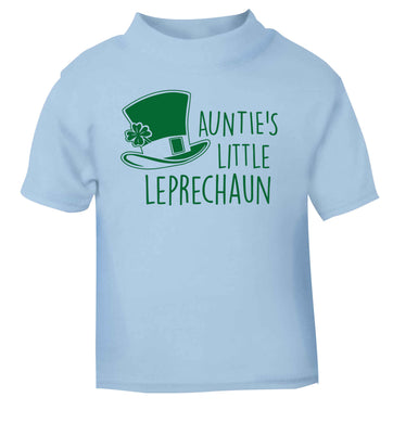 Auntie's little leprechaun light blue baby toddler Tshirt 2 Years