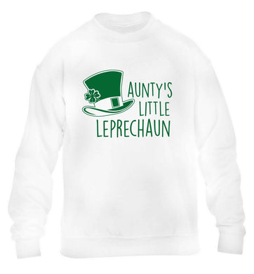 Aunty's little leprechaun children's white sweater 12-13 Years