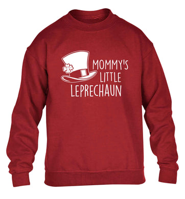 Mommy's little leprechaun children's grey sweater 12-13 Years