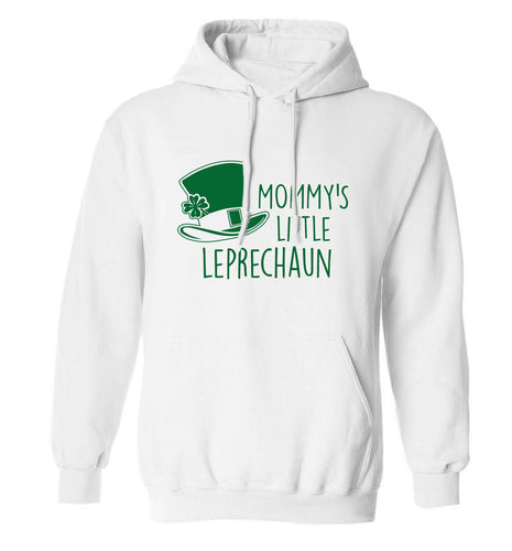 Mommy's little leprechaun adults unisex white hoodie 2XL