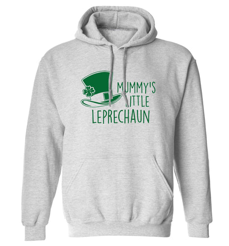 Mummy's little leprechaun adults unisex grey hoodie 2XL