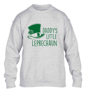 Daddy's little leprechaun children's grey sweater 12-13 Years