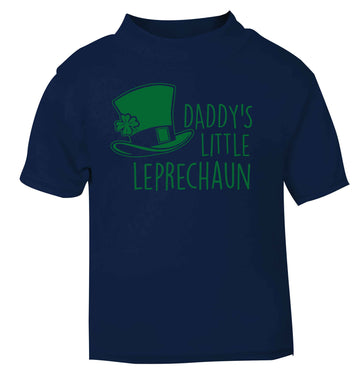 Daddy's little leprechaun navy baby toddler Tshirt 2 Years