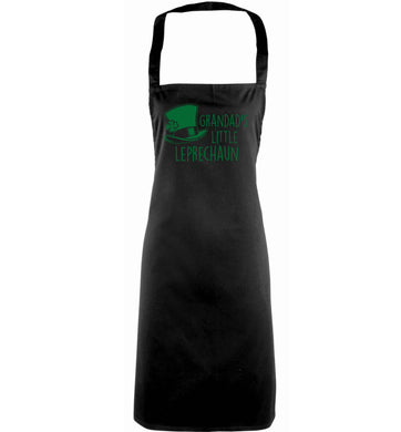 Grandad's little leprechaun adults black apron