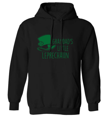 Grandad's little leprechaun adults unisex black hoodie 2XL
