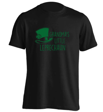 Grandma's little leprechaun adults unisex black Tshirt 2XL