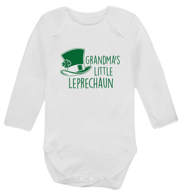 Grandma's little leprechaun baby vest long sleeved white 6-12 months