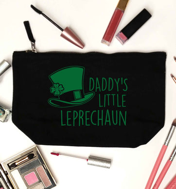 Daddy's lucky charm black makeup bag