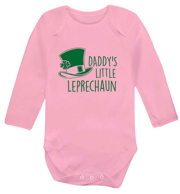 Daddy's lucky charm baby vest long sleeved pale pink 6-12 months