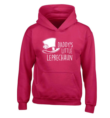 Daddy's lucky charm children's pink hoodie 12-13 Years