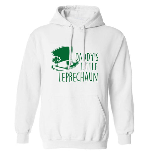 Daddy's lucky charm adults unisex white hoodie 2XL