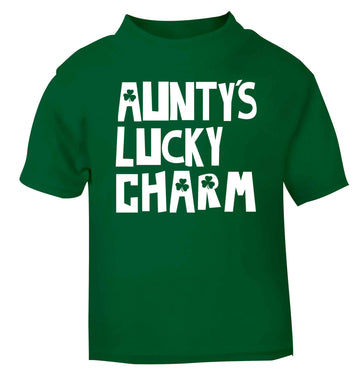 Aunty's lucky charm green baby toddler Tshirt 2 Years