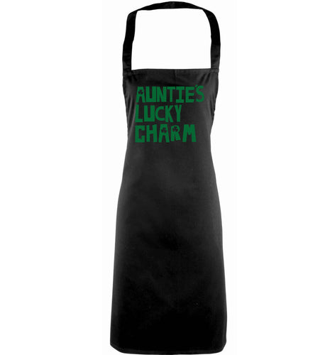 Auntie's lucky charm adults black apron