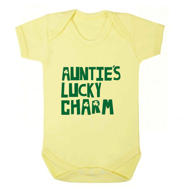 Auntie's lucky charm baby vest pale yellow 18-24 months