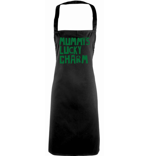 Mummy's lucky charm adults black apron