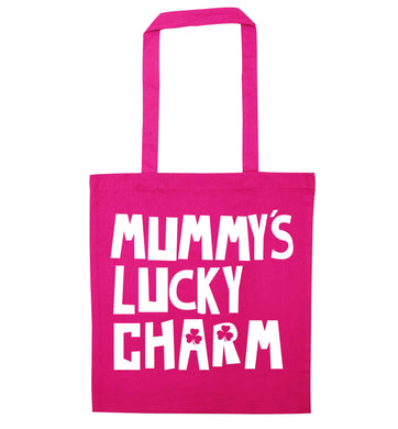 Mummy's lucky charm pink tote bag