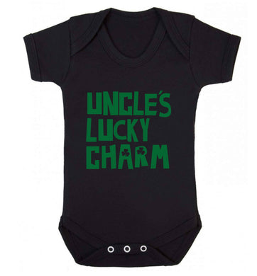 Uncles lucky charm baby vest black 18-24 months