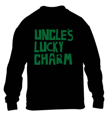 Uncles lucky charm children's black sweater 12-13 Years