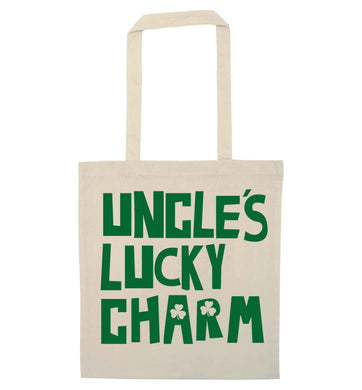 Uncles lucky charm natural tote bag