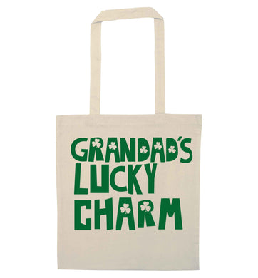 Grandad's lucky charm  natural tote bag