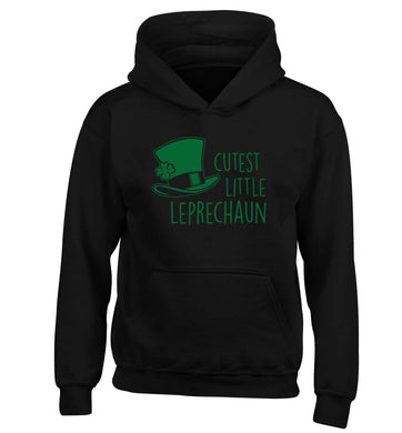Cutest little leprechaun children's black hoodie 12-13 Years