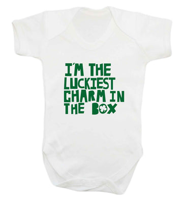 I'm the luckiest charm in the box baby vest white 18-24 months
