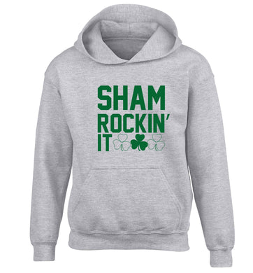 Shamrockin' it children's grey hoodie 12-13 Years