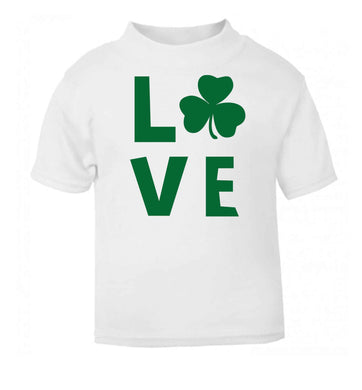 Shamrock love white baby toddler Tshirt 2 Years