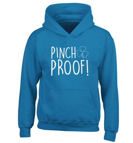 Pinch Proof children's blue hoodie 12-13 Years