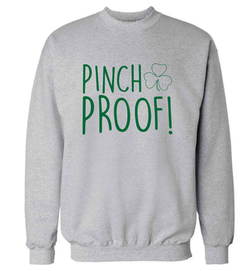 Pinch Proof adult's unisex grey sweater 2XL