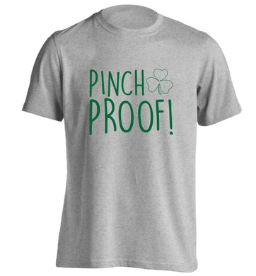 Pinch Proof adults unisex grey Tshirt 2XL