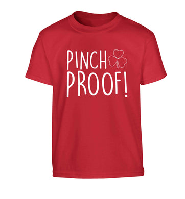 Pinch Proof Children's red Tshirt 12-13 Years