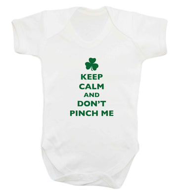 Keep calm and don't pinch me baby vest white 18-24 months