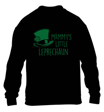 Mammy's little leprechaun children's black sweater 12-13 Years