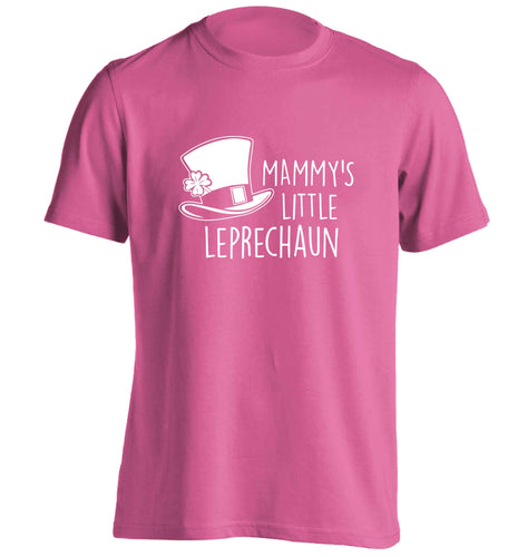 Mammy's little leprechaun adults unisex pink Tshirt 2XL