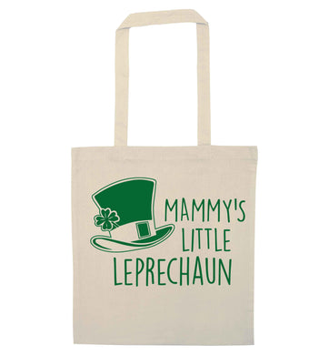 Mammy's little leprechaun natural tote bag