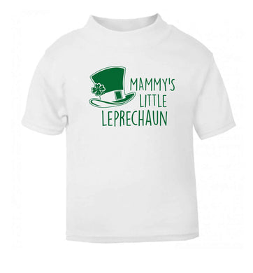 Mammy's little leprechaun white baby toddler Tshirt 2 Years