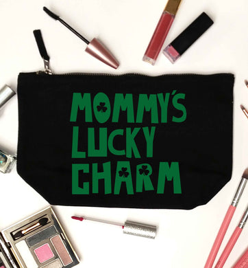 Mommy's lucky charm black makeup bag