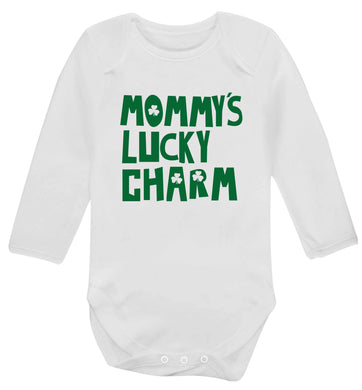 Mommy's lucky charm baby vest long sleeved white 6-12 months