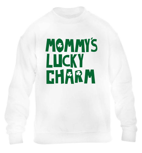 Mommy's lucky charm children's white sweater 12-13 Years