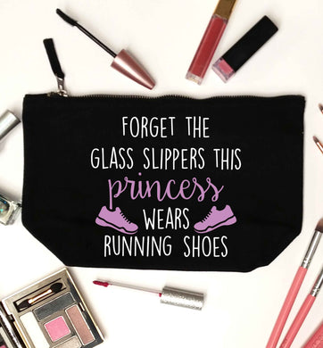 Forget the glass slippers this princess wears running shoes black makeup bag